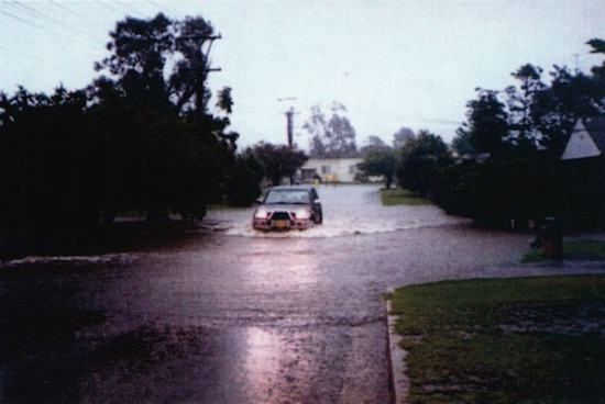 Rainfall Data Collection - Flooded Car at Horsley Creek